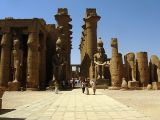 Luxor Temple, statues of Ramses and the Colonnade of Amenhotep III