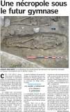 Necropole trouvee sur le site du velodrome en Octobre 2008