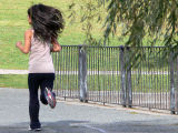Young jogger in Brookline MA USA