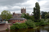 Hereford with the catheral in the background