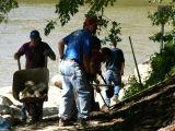 Work crew at upper access
