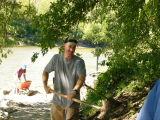 Dave wields a mean shovel