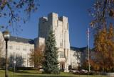 Burruss Hall Fall Morning-Virginia Tech