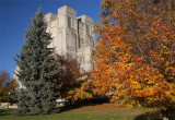 Burruss Hall And Fall Colors