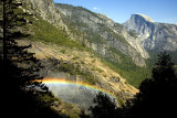 Half Dome With Rainbow
