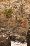 Rock walls above the Englehart River just upstream of High Falls