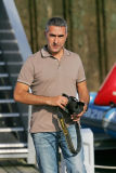 Yvan Zedda, un grand photographe de voile installé à Lorient. Il est le photographe exclusif  de Groupama