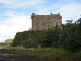 Side view of Dunvegan Castle