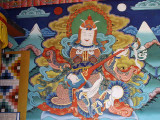 Painting at entrance to Punakha Dzong