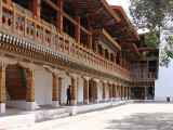 The administrative courtyard area, Punakha Dzong