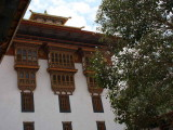 The utse (tower) seperates the secular and religious courtyards, Punakha Dzong