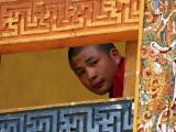 A bhuddist monk, Punakha Dzong