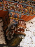 Detail of wood carving, Punakha Dzong