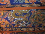 Ceiling painting in the temple, Punakha Dzong