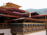 The temple roofs, Punakha Dzong
