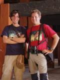 Josh and Christian at Punakha Dzong