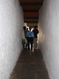 A narrow passage leads from one courtyard to the next, Punakha Dzong