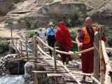 Temporary bridge over the Mo Chhu, Punakha