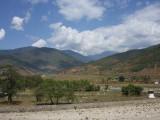 The Pho Chhu valley, Punakha