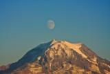 Fall  Moonrise over Mt. Rainier