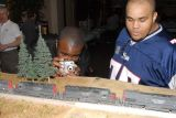 Donnel Wells and Paul Ellis check out Joe Bence's models on the LA Free-Mo display