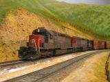 Dave Hussey's SD40s at La Mesa on Sunday
