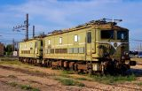 Two old BB300 retired and preserved at Miramas depot.