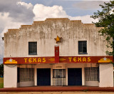 The Texas facade.