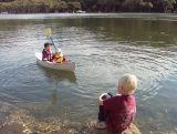 Kids with Canoe