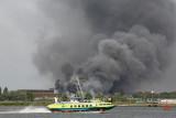 Big fire and hovercraft