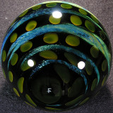 I love the backside on this one, beautiful gold fumed dots with some silver fumed streaks in between.
