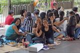 Sunday picnics for Philippino housemaids