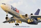 FedEx MD10-10F N393FE (ex United N1828U) landing at MIA aviation cargo airline stock photo #2136