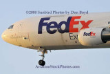 FedEx MD-10 N393FE (ex United N1828U) landing at MIA aviation cargo airline stock photo #2137