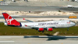 Virgin Atlantic B747-443 G-VLIP airliner aviation stock photo #3105