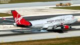 Virgin Atlantic B747-443 G-VLIP airliner aviation stock photo #3107