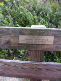 A bench behind Hereford Inlet dedicated to a 9-11 flight attendant