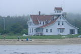 An old lifesaving station converted to an expensive B&B (Phippsburg, ME)