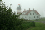 West Quoddy lighthouse from the parking lot.