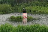 On the way to Lubec, I saw this lighthouse replica sitting in a pond by the side of the road.
