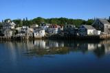 Stonington Harbor the next morning.