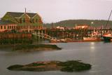 Stonington Harbor around 8 PM after the storm.