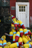 Buoys outside a house near Boyce's Motel in Stonington, at the tip of the island.