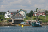 By the time we got back to the harbor, it had cleared up and was looking very pretty.  Cutler is a very pretty place.