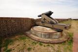 Fort Pulaski gun, normal viewpoint.