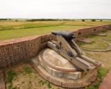 Fort Pulaski gun, overhead viewpoint.
