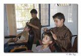 Lerning to cut hair