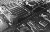 1962 - aerial view of Miami Beach Federal S&L and the Miami Beach Auditorium from the Goodyear Blimp Mayflower