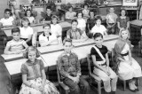 1957-1958 - Miss Ruth Ban's 5th grade class at Springview Elementary School (left half)
