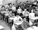 1958-1959 - Mr. William R. Hall's 6th grade class at Springview Elementary School (left half)